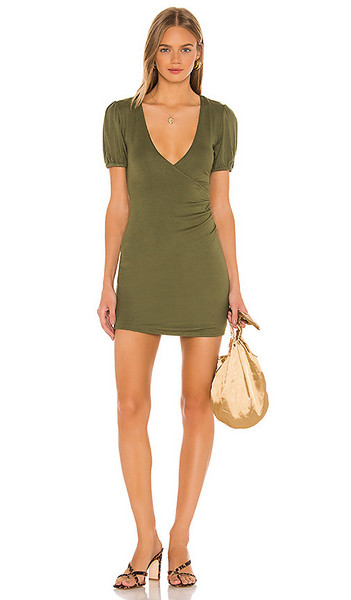 Privacy Please Kaden Mini Dress in Olive in green