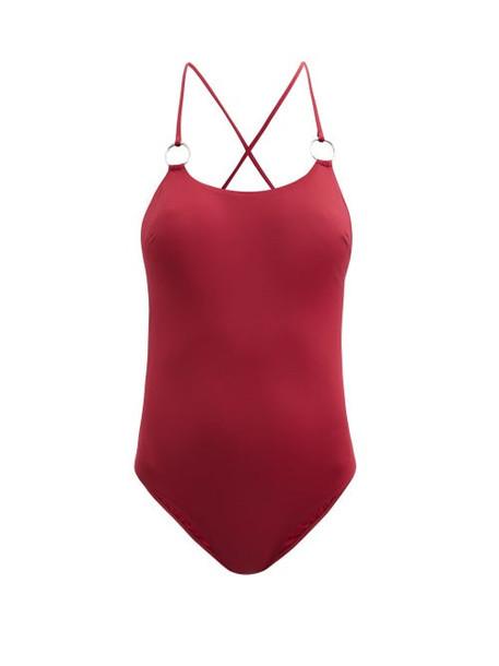 Max Mara Beachwear - Lampada Swimsuit - Womens - Burgundy