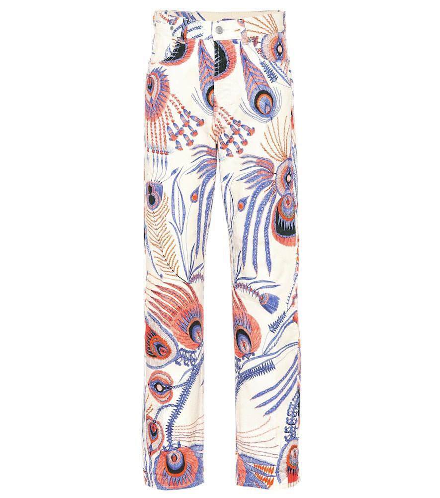 Dries Van Noten Printed straight-leg jeans