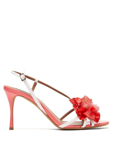 Tabitha Simmons - Peony Patent Leather Sandals - Womens - Pink White