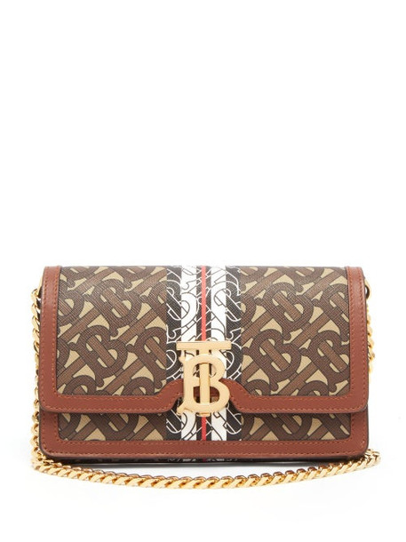 Burberry - Carrie Coated Canvas & Leather Cross Body Bag - Womens - Brown Multi