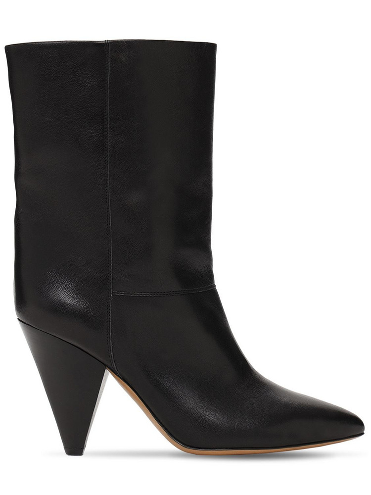 ISABEL MARANT 90mm Locky Leather Ankle Boots in black