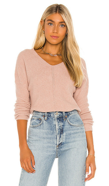 Sanctuary Warm Me Sweater in Pink in rose