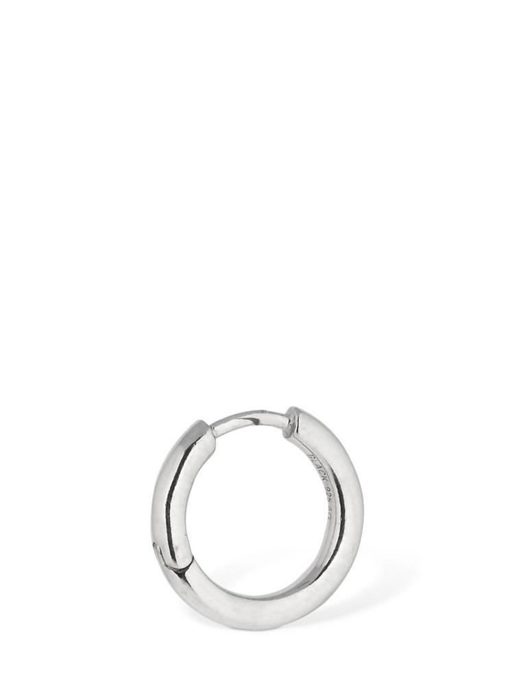 MARIA BLACK Polo Mini Huggie Mono Hoop Earring in silver