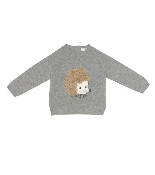 Il Gufo Baby wool sweater in grey