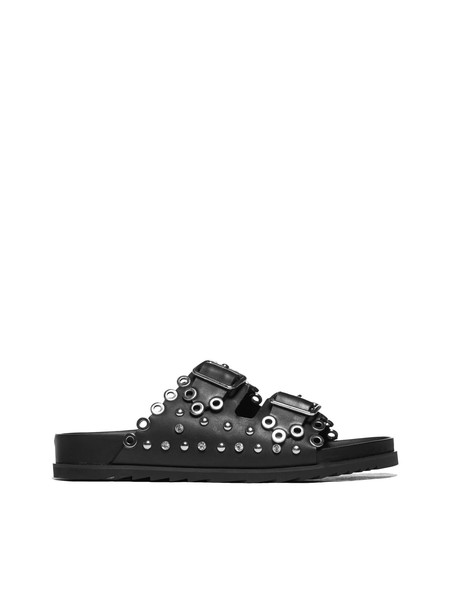 Ash Studded Sandals in nero