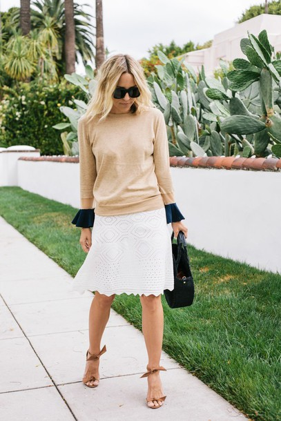 damsel in dior blogger bag top skirt shoes jewels