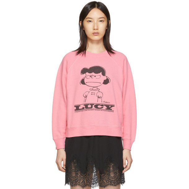 Marc Jacobs Pink Peanuts Edition Lucy Sweatshirt