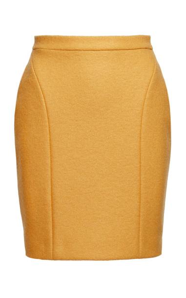 Anouki High-Rise Wool Mini Skirt in yellow