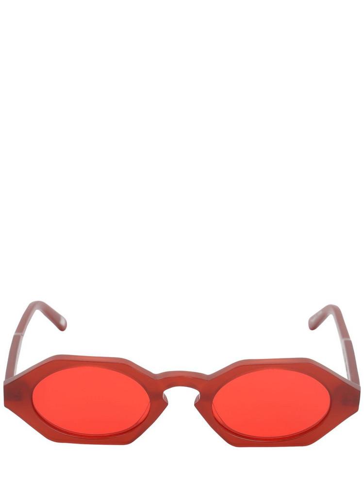 CHIMI Laser Liquid Acetate Sunglasses in red