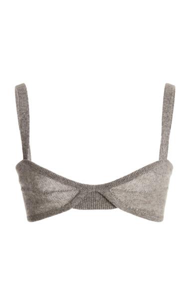 Khaite Eda Cashmere Bralette in grey