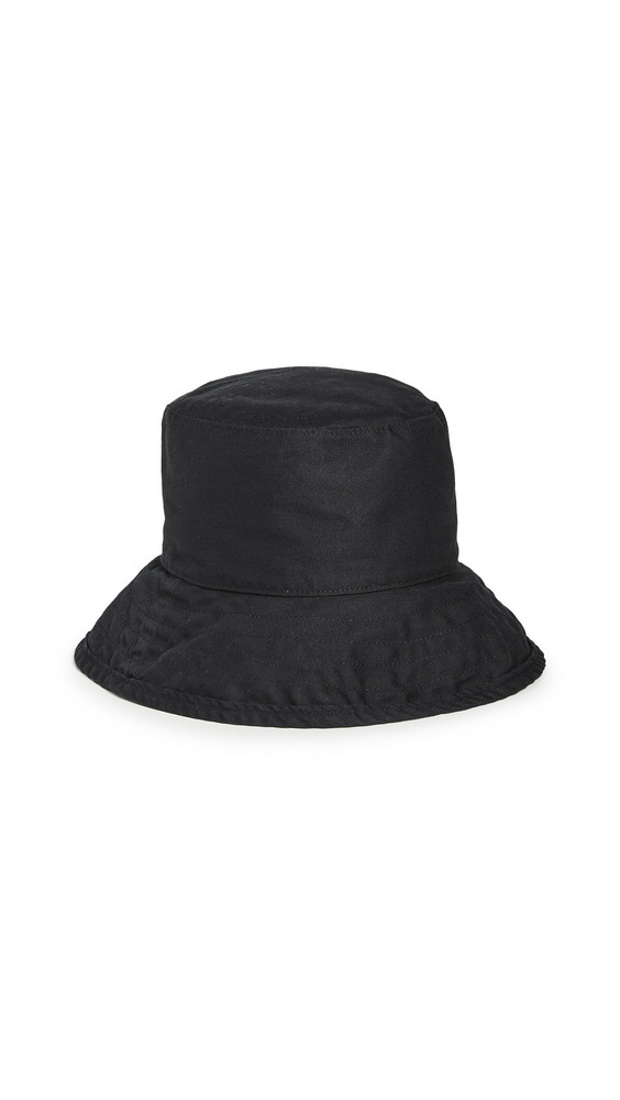 Hat Attack Washed Cotton Crusher Hat in black