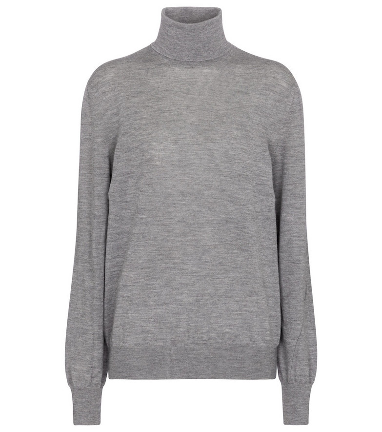 The Row Lamberth cashmere turtleneck sweater in grey