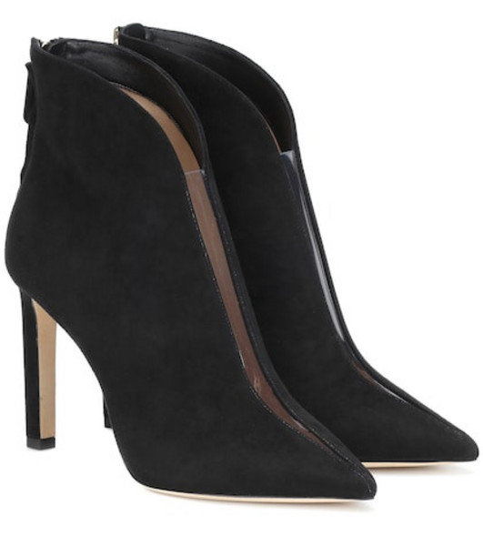 Jimmy Choo Bowie 100 suede ankle boots in black