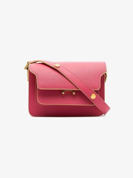 Marni pink Trunk small front-pocket shoulder bag