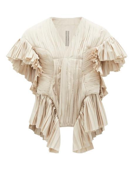 Rick Owens - Poblamna Peplum Cotton-poplin Occasion Jacket - Womens - Pearl