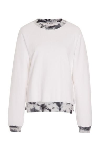 Proenza Schouler PSWL Cotton-Jersey Sweatshirt in white