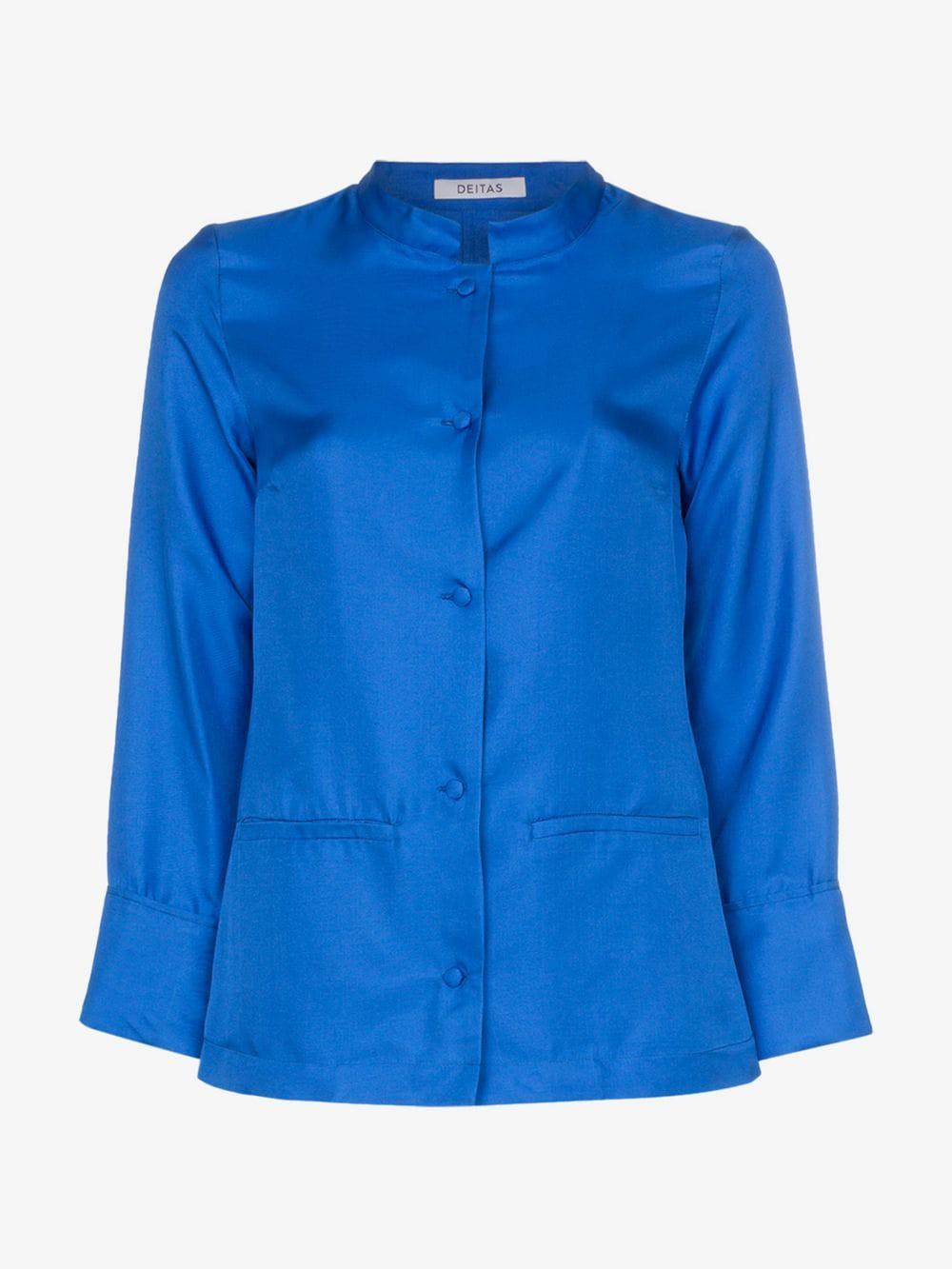 Deitas China silk shirt in blue