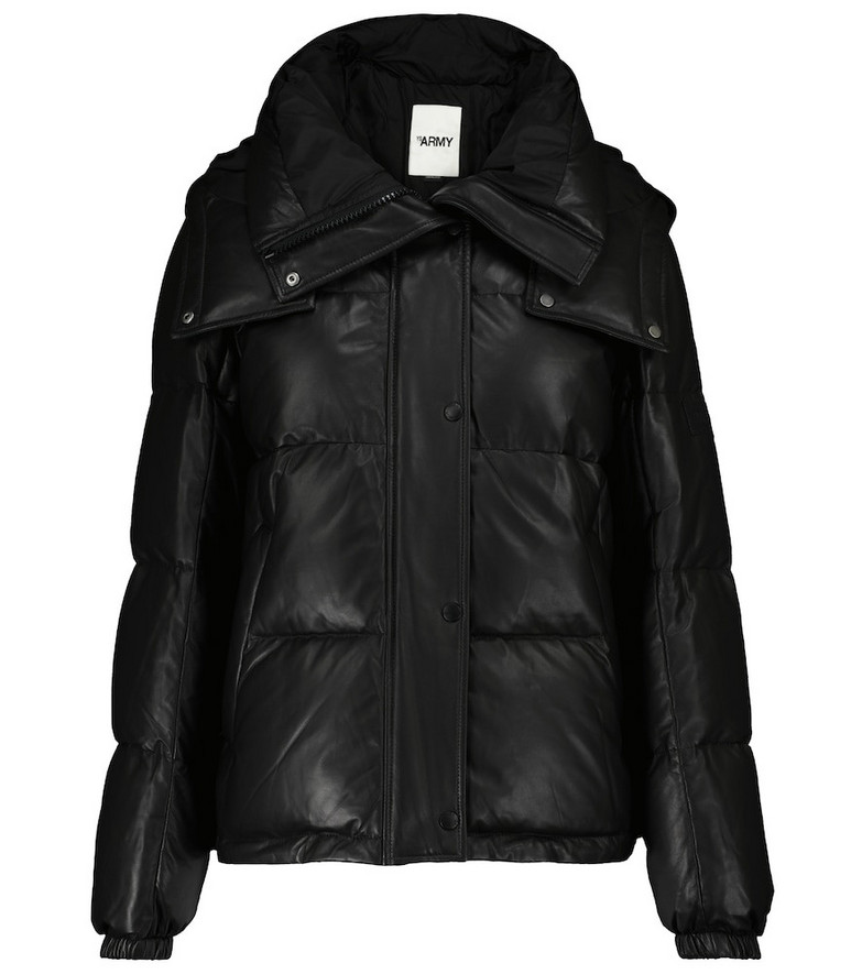 Yves Salomon Army quilted leather jacket in black