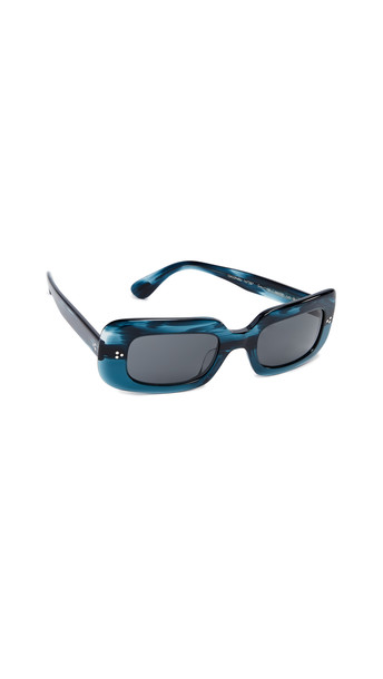 Oliver Peoples Eyewear Saurine Sunglasses in teal