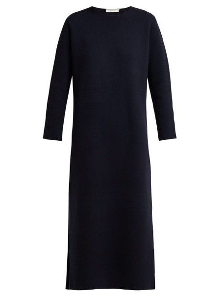 The Row - Veronia Merino Wool Blend Dress - Womens - Navy