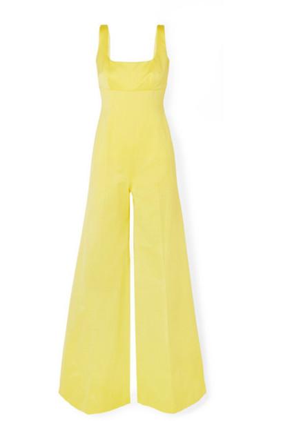 Emilia Wickstead - Delta Cotton-blend Faille Jumpsuit - Yellow
