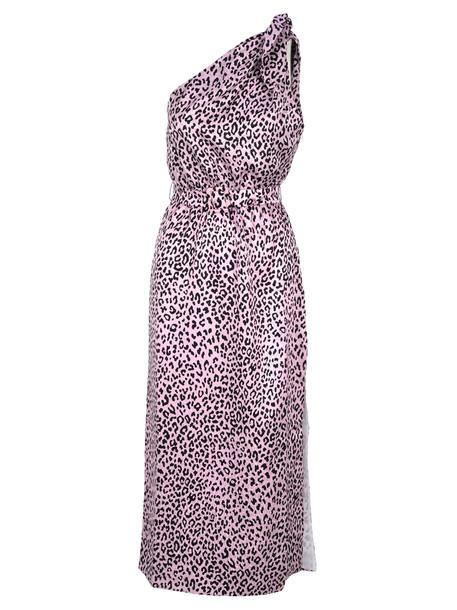 Alessandra Rich Dress Monospalla in pink / print