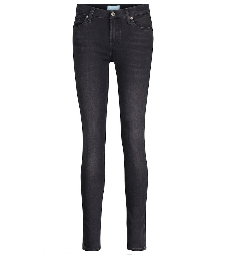 7 For All Mankind The Skinny B(AIR) mid-rise jeans in black