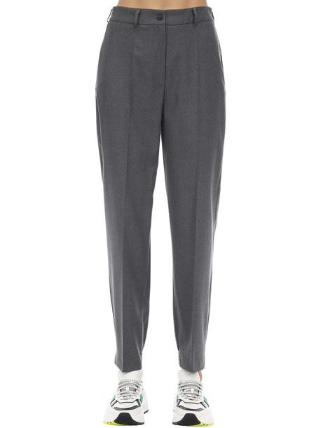 AGNONA High Waist Wool Pants in grey