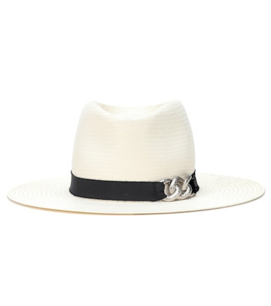 Maison Michel Charles straw hat in white