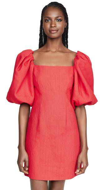 Rebecca De Ravenel First Impressions Mini Dress in red