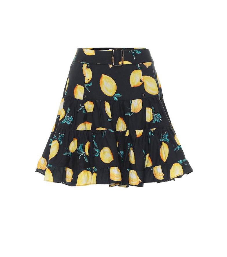 Alexandra Miro Exclusive to Mytheresa – Isla printed cotton miniskirt in black