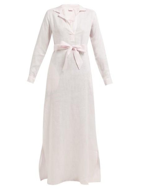 Pour Les Femmes - Linen Maxi Nightdress - Womens - Light Pink