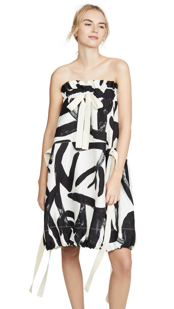 Lee Mathews Maisie Convertible Balloon Dress / Skirt in black / print