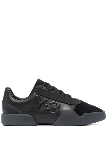 Y-3 x adidas Yunu leather sneakers in black