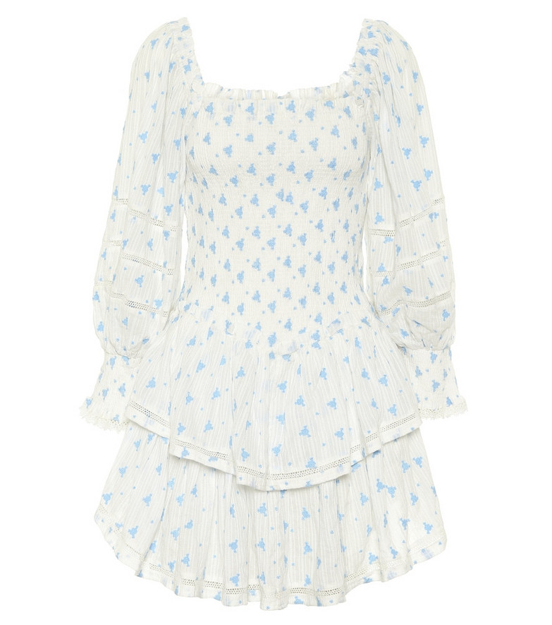 LoveShackFancy Exclusive to Mytheresa – Raelynn floral cotton minidress in white