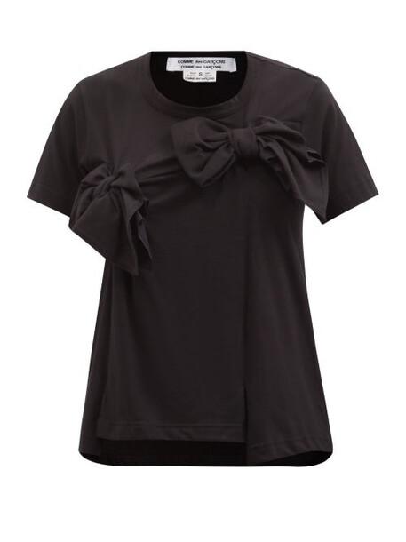 Comme Des Garçons Comme Des Garçons - Bow-yoke Cotton-jersey T-shirt - Womens - Black
