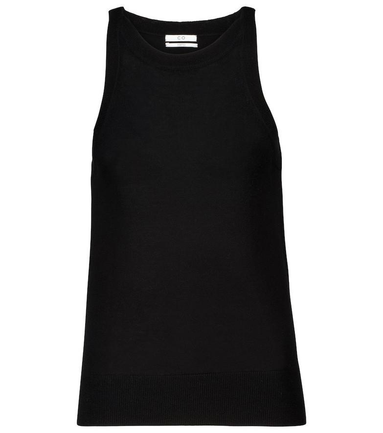 Co Essentials wool tank top in black