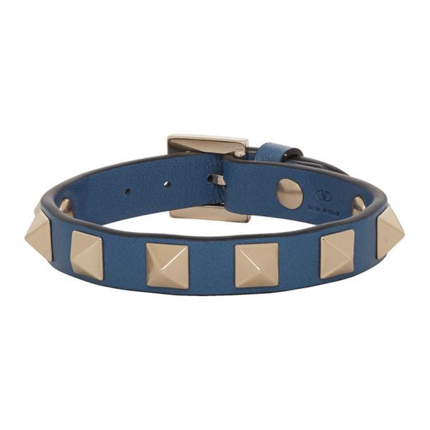 Valentino Navy Valentino Garavani Rockstud Bracelet
