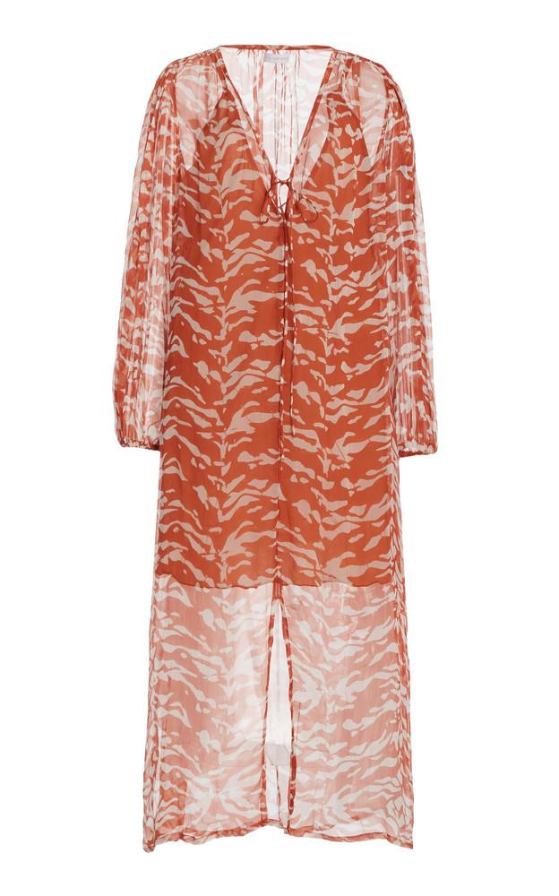 Cloe Cassandro Lea Printed Silk Midi Dress in print