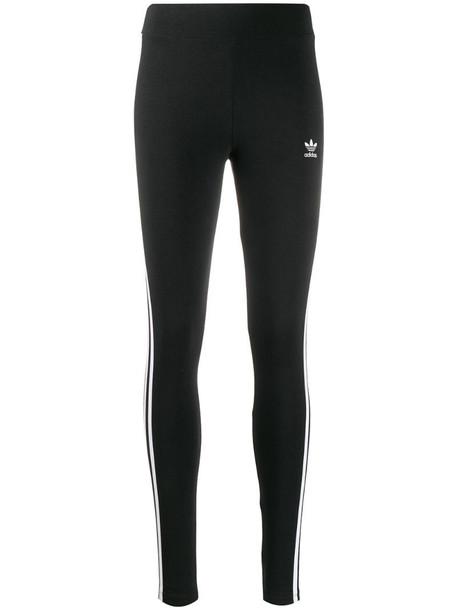 adidas stripe panel leggings in black