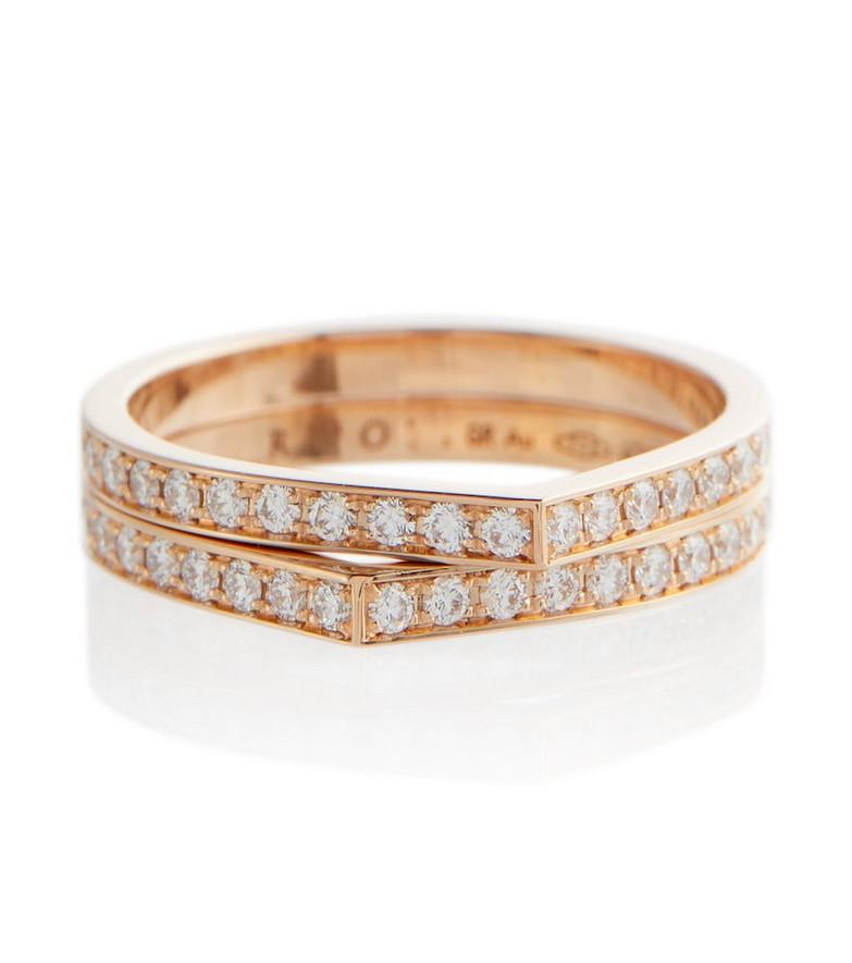 Repossi Antifer rose gold ring with diamonds