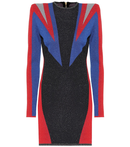 Puma x Balmain cotton-blend minidress in black