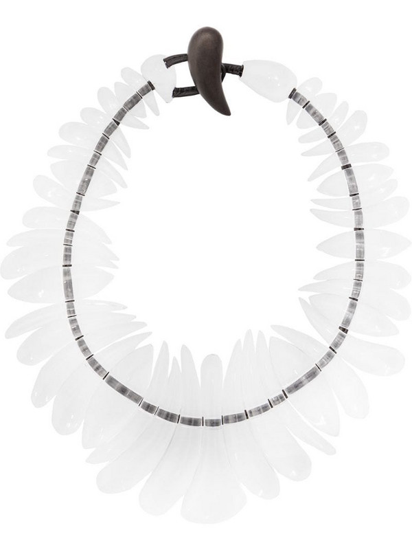 Monies transparent necklace in white