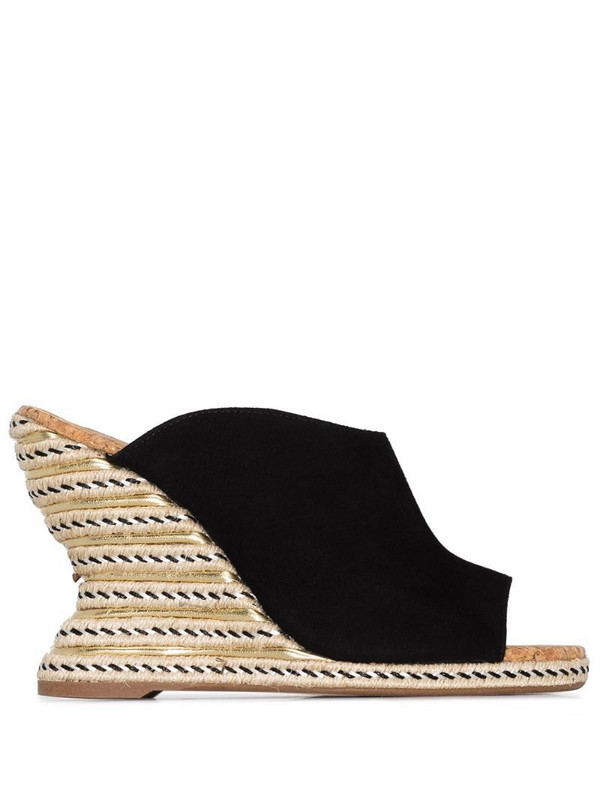 Sophia Webster Carlita 110mm suede espadrille mules in black
