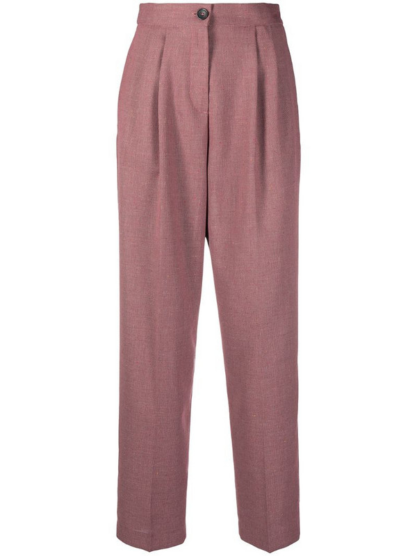 PS Paul Smith pleat-front straight leg trousers in pink