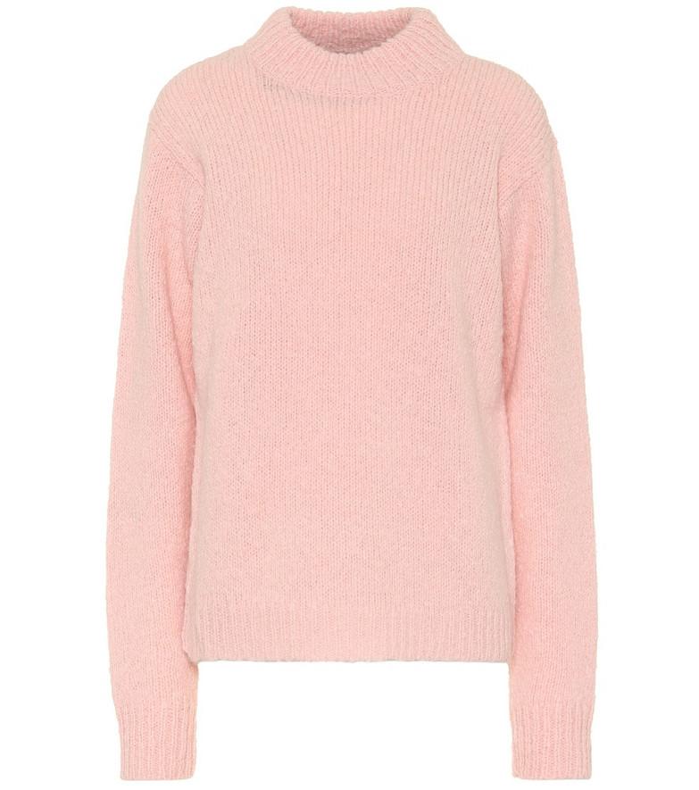 Tibi Cozette alpaca and wool sweater in pink
