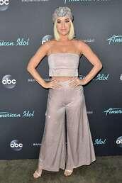top,katy perry,wide-leg pants,celebrity,crop tops,bralette,sparkle