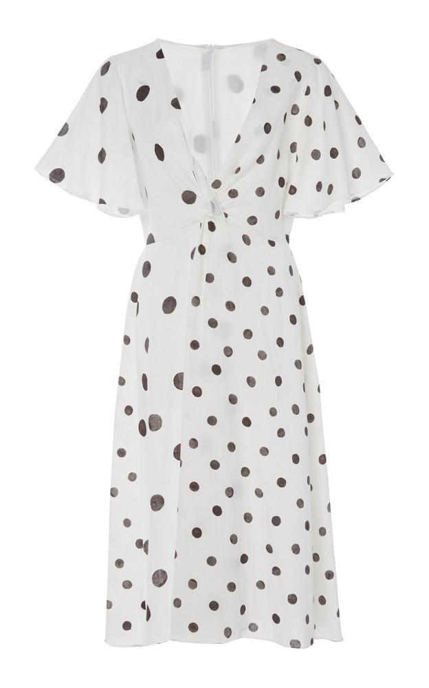 Whit Twist Linen Dress in white