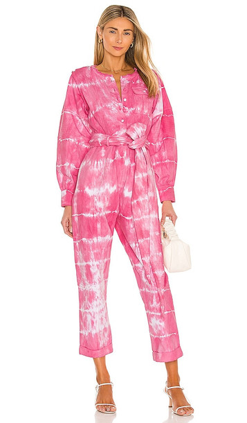 LoveShackFancy Paca Jumpsuit in Pink